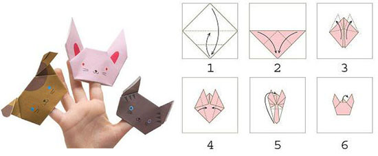 Как сделать оригами палец